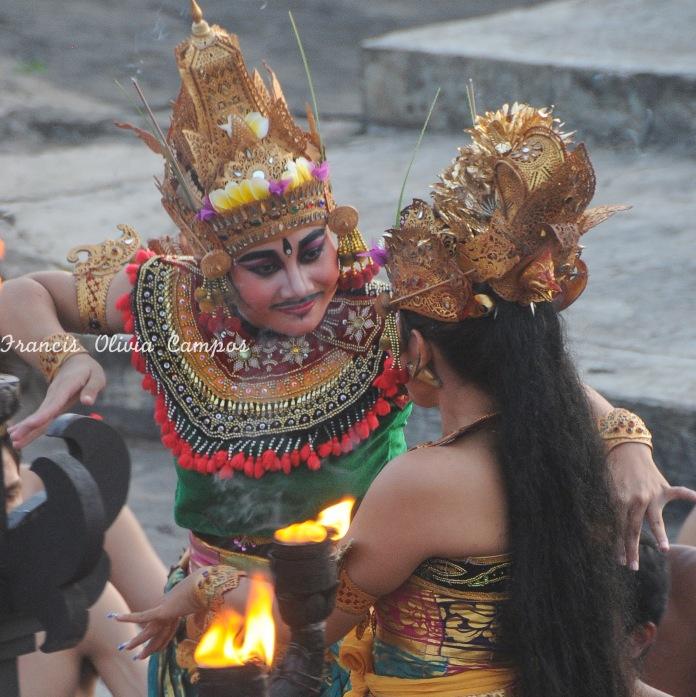 Kecak Dance no Templo de Uluwatu