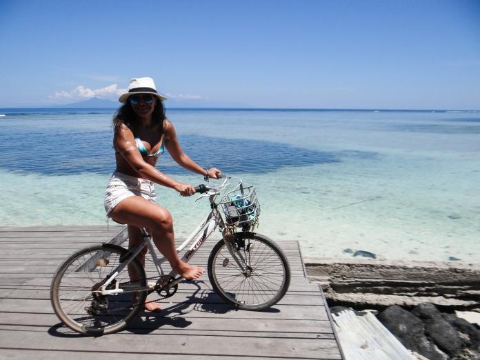 Dando a volta na ilha de Gili T de bike..cada curva uma foto :D