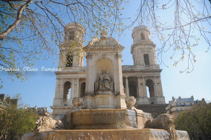 Igreja de Saint Sulpice no bairro de Saint Germain